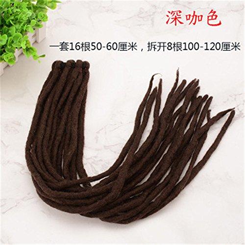 Long Dreadlock Ponytail Wig Handmade Wool DreadLocks Hair Band Cyber Goth Cosplay Lolita Headband Accessories (8)