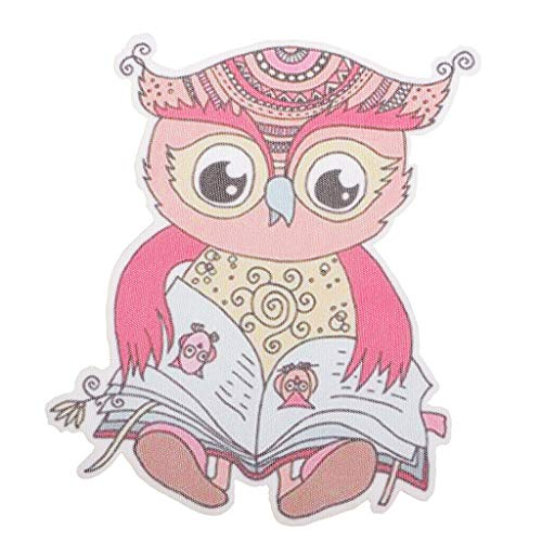 Pink Owl Heat Transfer Patches Sticker Iron-on Appliques DIY Clothing Bags