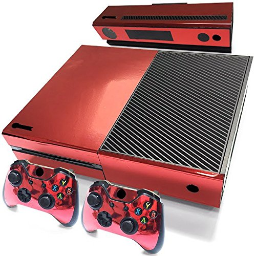 Gam3Gear Decals Skin Vinyl Sticker for Xbox ONE Console & Controller - Red Glossy