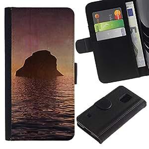 Paccase / Billetera de Cuero Caso del tirón Titular de la tarjeta Carcasa Funda para - Nature Beautiful Forrest Green 131 - Samsung Galaxy S5 V SM-G900