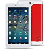 Padgene 7 Inch 8GB Tablets,Android 4.4.2 MTK6582 Quad Core 1.3GHz,2G/3G GSM Dual Camera,Dual Sim Bluetooth 3.0 Tablet PC Cellphone (Red)