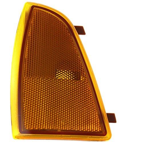 DAT 94-97 CHEVROLET S10 PICKUP BLAZER CORNER OF FENDER FRONT SIDE MARKER CORNER LIGHT ASSEMBLY SEALED BEAM HEAD LIGHTS LEFT DRIVER SIDE GM2550140 (Pickup S10 Corner)