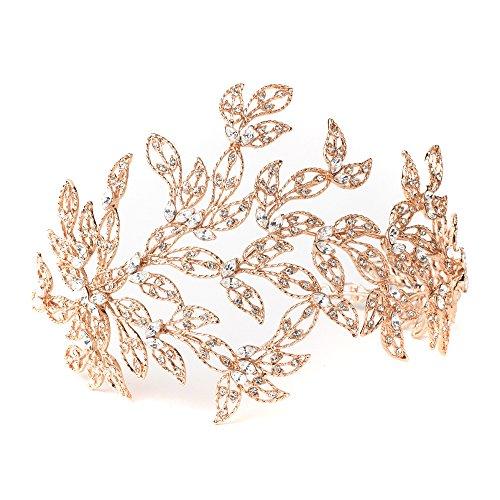 Rose Gold Crystal Princess Bridal Tiara, Crystal Tiaras, Crystal Headpieces, Bridal Headpieces, Bridal Tiaras by Rodeo Couture Bridal