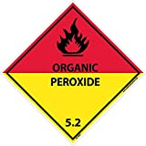 DL18AP National Marker Dot Shipping Label, Organic Peroxide 5.2, 4 x 4, ps Vinyl, 25/Pack of 25)