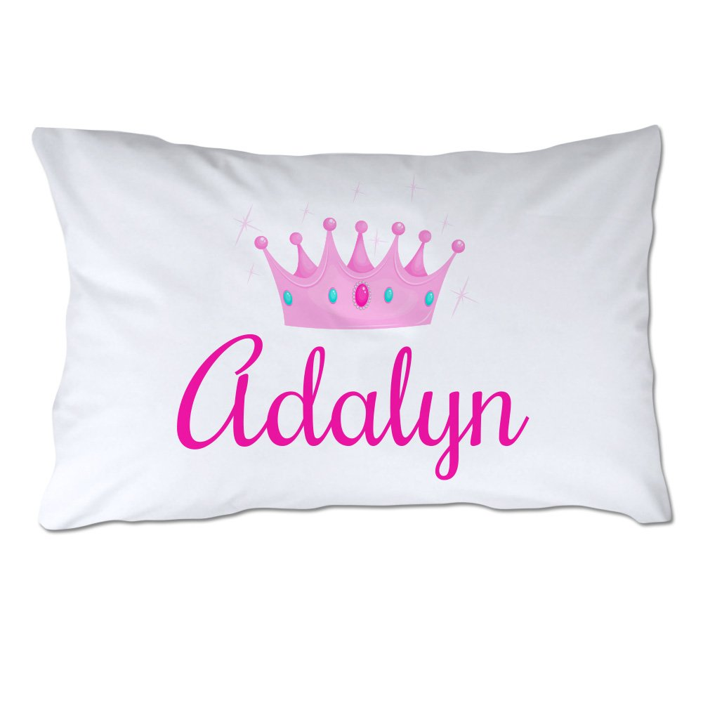 Pattern Pop Personalized Toddler Size Princess Pillowcase with Pillow Included by Pattern Pop