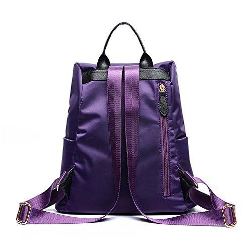 Yiuswoy Mode Wasserdicht Nylon Taschen Reisetaschen Schultaschen Rucksack - Lila