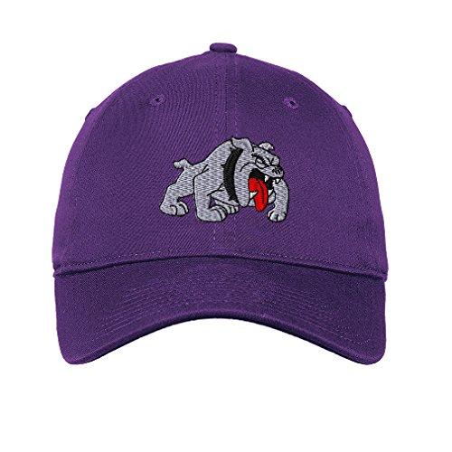 Bulldog Style 3 Twill Cotton 6 Panel Low Profile Hat Purple