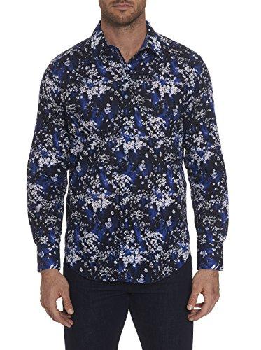 Robert Graham Rosecrans Printed L/S Woven Shirt Classic Fit Blue (L/s Woven Shirt)