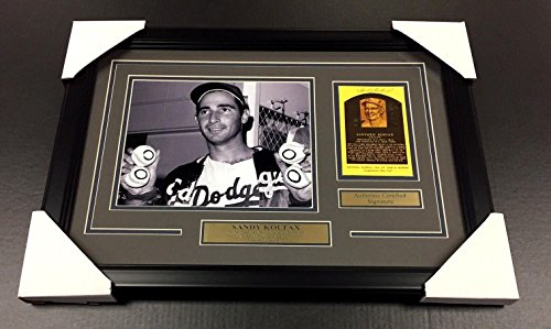 Sandy Koufax Autographed Photograph - Card Framed 8x10 COA - JSA Certified - Autographed MLB Photos (Sandy Koufax Framed Signed)