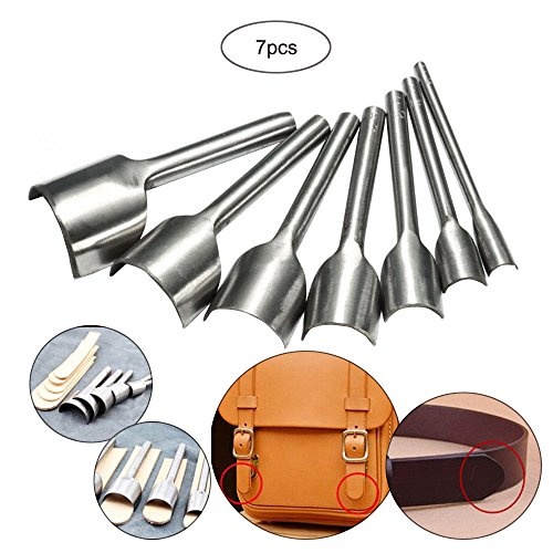Hanperal Leather Craft Tools Half-round Cutter Punch Strap Belt Wallet End DIY 10-40mm