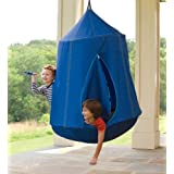 Nylon Canvas HugglePod HangOut with LED Lights, in Blue