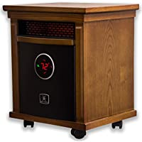 Heat Storm Smithfield Deluxe Indoor Portable Infrared Space Heater - Stylish - 1500 Watts - Built in Thermostat & Overheat Sensor - Remote Control