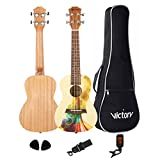 MUSICTOPIA VIVICTORY Concert Ukulele 23 Inch Spruce Mahogany Oil Painting Style Aquila string