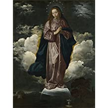 high quality polyster Canvas ,the Replica Art DecorativePrints on Canvas of oil painting 'Diego Velizquez The Immaculate Conception ', 18 x 24 inch / 46 x 60 cm is best for Game Room gallery art and Home gallery art and Gifts