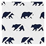 Sweet Jojo Designs Navy Blue and White Fabric Memory/Memo Photo Bulletin Board for Big Bear Collection by