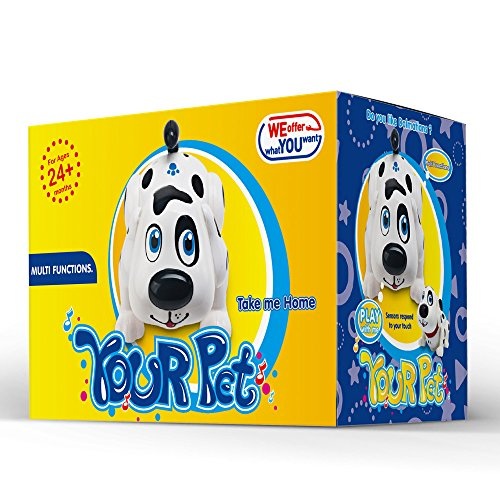 Electronic Pet Dog Interactive Puppy - Robot Harry Responds to Touch, Walking, Chasing and Fun Activities.