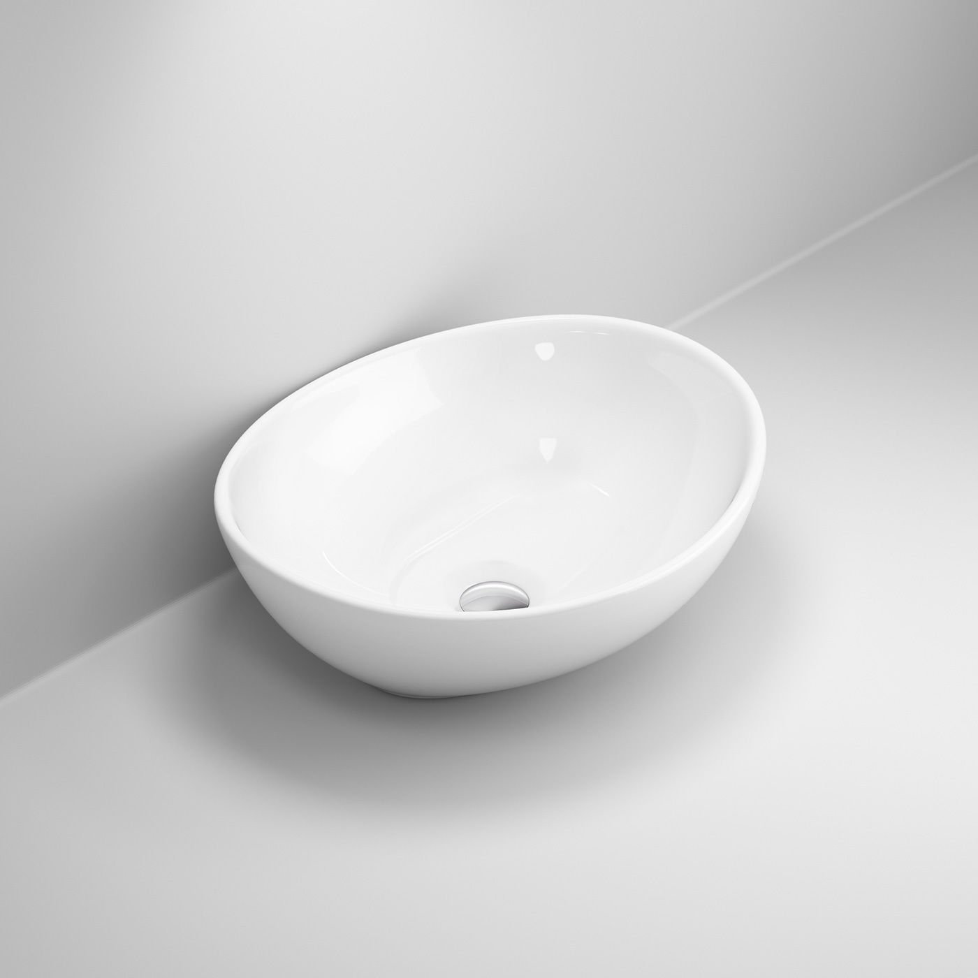 Lexonelec controsoffitto bagno rettangolare Bowl top lavabo in ceramica