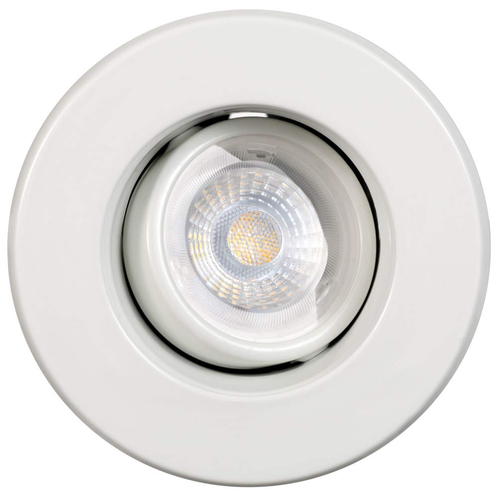Energy Star Certified LED Bulb Included 91198 White Swivel Recessed Lighting Kit Globe Electric 3 in