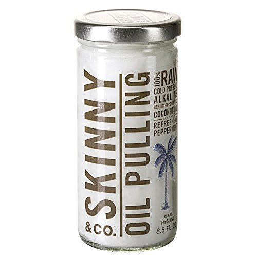 Skinny & Co. Peppermint Oil Pulling Coconut Oil, 8.5 ounces