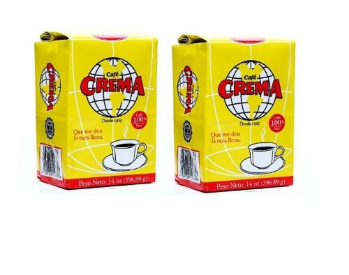 Cafe Crema Ground Coffee 28 Ounces / 2 Bags of 14 Ounces Each