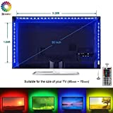 Led TV Backlight Kit, 5050 RGB Background Lighting with 44 key Remote Monitor Bias Lights USB Strip Light for 40''- 70'' HDTV