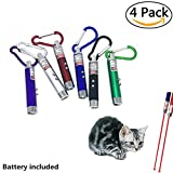 #10: Pack of 4 Laser Tease Cat Dog Toy, 2 in 1 Multi Function Flashlight and Red Light Pointer Funny Cat Chaser Toys Interactive LED Light,Scratching Training Tools Red Pot Exercise Chaser - Assorted Color