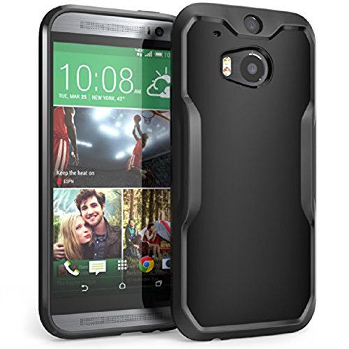 HTC One M8 Case, SUPCASE Unicorn Beetle Premium Hybrid Protective Case for All New HTC One M8 2014 Release (Black/Black)