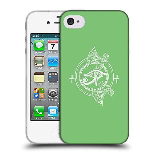 GoGoMobile Coque de Protection TPU Silicone Case pour // Q09900629 Religion 30 Pastel Vert // Apple iPhone 4 4S 4G