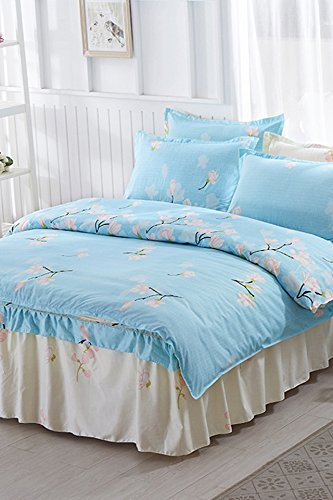 Camilla Fabric Set (Man Boli new Korean lace bed skirt four sets pastoral princess bedding four sets)