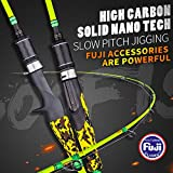 GOOFISH Solid Nano Blank Slow Jigging Rod Light Shore Jigging Rod Slow Action Pitch Rod Pe 2-4 1.98m(6'6″)