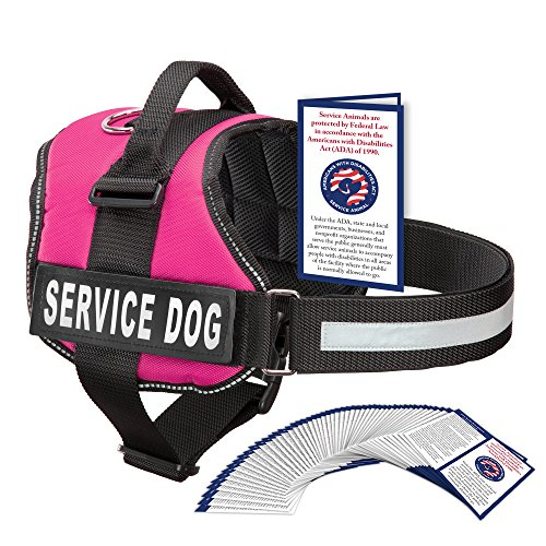 Service Dog Harness With Velcro Straps and Handle | Available In 7 Sizes From Extra Small to Extra Large | Vest Features Reflective Patch and Comfortable Mesh Design From Industrial Puppy