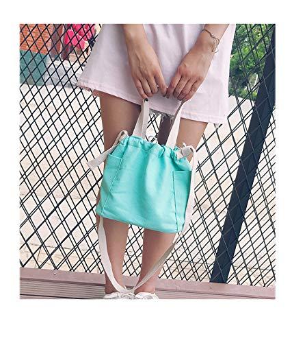 Handbag Donna Piccola Estivo a Tela Verde ACVIP Borsa Spalla Uqgwa