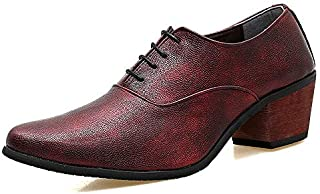 LOVDRAM Chaussures De Sport Hommes Nouveau Chaussures De Sport Hommes Pointu Chaussures De Haute Couture Coiffeurs Styliste en Cuir Chaussures À Talons Hauts Chaussures Hommes LOVDM