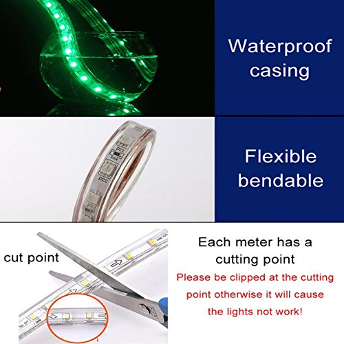 SuperonlineMall AC 110-120V Flexible Waterproof LED Strip Lights, 20m/65.6ft - RGB by SuperonlineMall (Image #4)