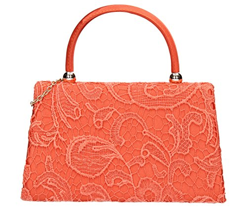 SwankySwansKendall Lace Smart Elegant Ladies - Sacchetto donna Coral