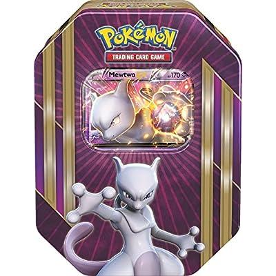 Pokemon TCG: Triple Power Collector's Pokemon Tin - Contains Mewtwo EX, Shiny Gyarados EX OR Machamp EX, 4 Pokemon Booster Packs and Online Code: Toys & Games