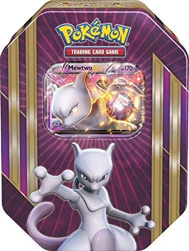 (Pokemon TCG: Triple Power Collector's Pokemon Tin - Contains Mewtwo EX, Shiny Gyarados EX OR Machamp EX, 4 Pokemon Booster Packs and Online Code)