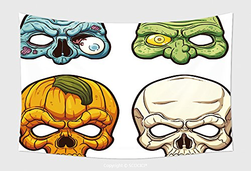 Home Decor Tapestry Wall Hanging Halloween Masks Vector Clip Art Illustration With Simple Gradients Each On A Separate Layer 315183266 for Bedroom Living Room Dorm (Halloween Number Clip Art)