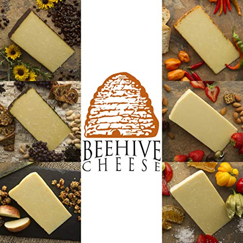 Beehive Cheese Sampler - Family of Cheese Gift Basket - Includes 6, 4oz Wedges of Aged Cheese in a Variety of Artisan Flavors