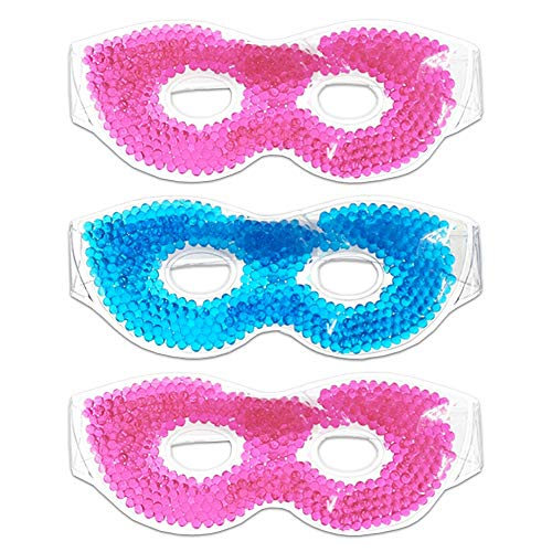 (Hot / Cold Therapeutic Bead Pearl Gel Eye Masks (Pack of 3))
