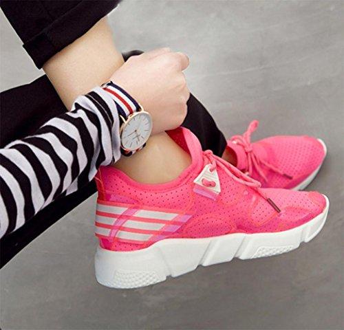 MEI Herbst Frauen Schuhe Sport Laufschuhe Licht atmungsaktiv Casual Schuhe Mesh flachen Mund Schuhe , US6 / EU36 / UK4 / CN36