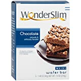 WonderSlim Weight Loss Meal Replacement Wafer Bar - High Protein, Trans Fat Free, Aspartame Free, Cholesterol Free - Chocolate, 1 Box (5 ct)