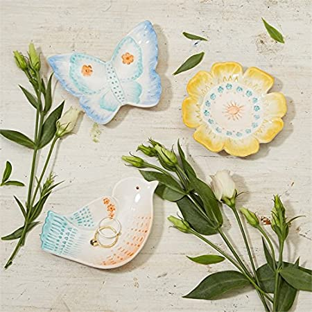 Butterfly Twos Company Garden Critters Trinket Tray