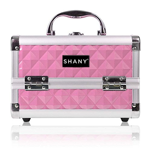 (SHANY Mini Makeup Train Case With Mirror - Polite PINK )