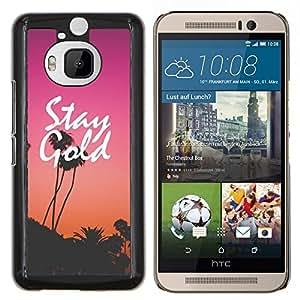 EJOOY---Cubierta de la caja de protección para la piel dura ** HTC One M9Plus M9+ M9 Plus ** --permanecer oro púrpura puesta de sol los Ángeles