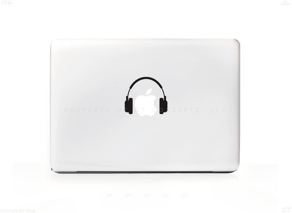 Simple Headphones Sticker Decal for MacBook Pro, PC, Laptop, Window, Car, or Wall