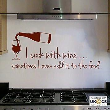 Wand Kochen Wein Essen Humor Zitat Küche F Unny Wall Kunst Sti Dekor  Aufkleber Vin Yl