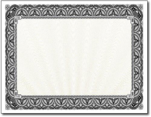 28lb Black Border Certificates - 100 Certificates