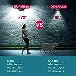 Solar Lights Outdoor, [2019 Newest Model 60 LED – 800 Lumens] iPosible Motion Sensor Security Lights 270º Wall Lights…