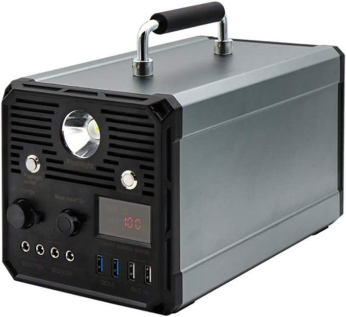 MSG ZY Central eléctrica portátil del generador de 1000W, generador de energía Solar, batería de Litio con Salida de CA 220V para Acampar en el hogar y al Aire Libre